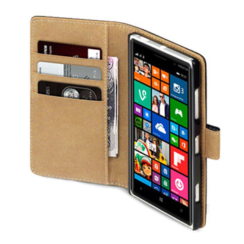 Olixar Leather-Style Nokia Lumia 830 Wallet Case - Black