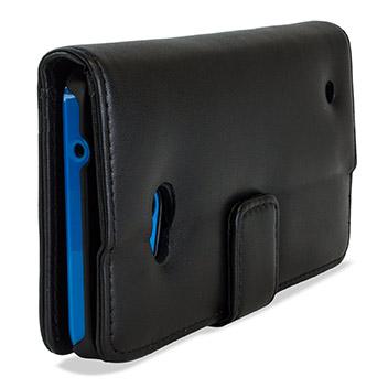 housse portefeuille microsoft lumia 640 cuir v ritable olixar noire. Black Bedroom Furniture Sets. Home Design Ideas