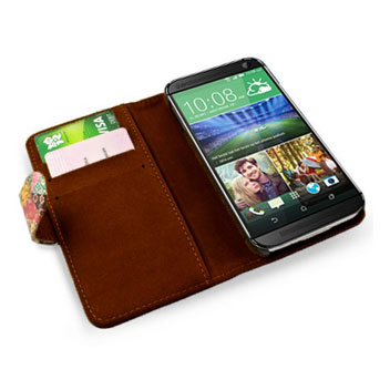 Create And Case HTC One M9 Book Stand Case - Grandma's Quilt