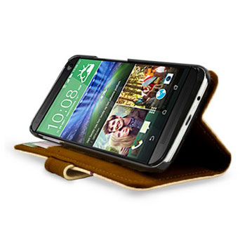 Create And Case HTC One M9 Book Stand Case - Warrior Owl