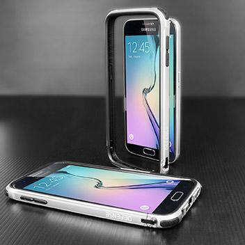 X Doria Defense Gear Samsung Galaxy S6 Metal Bumper Case - Silver