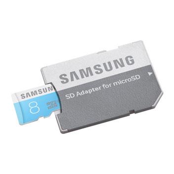 Samsung 8GB MicroSD HC Card with SD Adapter - Class 6