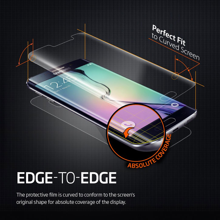 Spigen Full Body Samsung Galaxy S6 Edge Curved Screen Protector Pack
