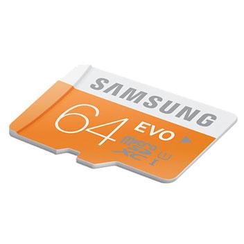 Samsung 64GB MicroSDXC EVO Card - Class 10