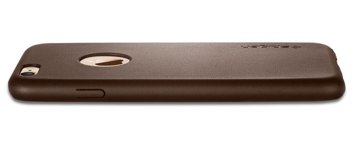Spigen Leather Fit iPhone 6 Shell Case - Olive Brown