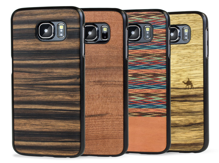 smartphone powered man&wood samsung galaxy s6 wooden case ebony from