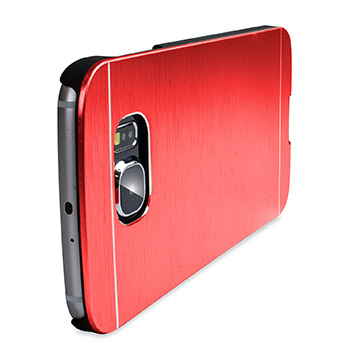 Olixar Aluminium Samsung Galaxy S6 Shell Case - Red