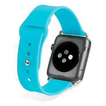 Olixar Soft Silicone Rubber Apple Watch Sport Strap - 38mm - Blue