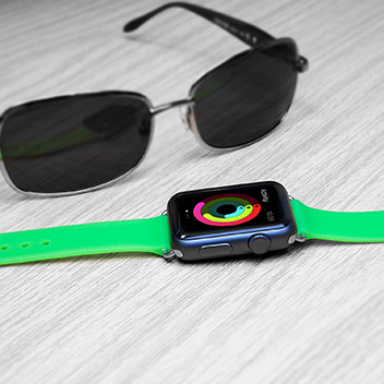 Olixar Soft Silicone Rubber Apple Watch Sport Strap - 38mm - Green