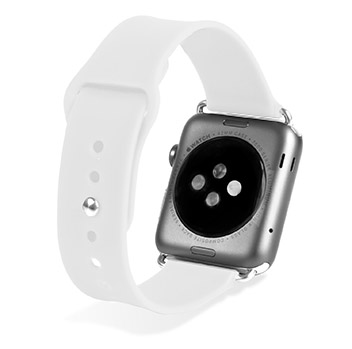 Olixar Soft Silicone Rubber Apple Watch Sport Strap - 38mm - White