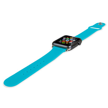Soft Silicone Rubber Apple Watch Sport Strap - 42mm - Blue