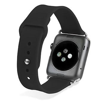 Olixar Soft Silicone Rubber Apple Watch Sport Strap - 42mm - Black