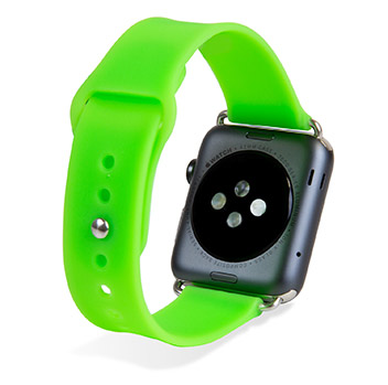Olixar Soft Silicone Rubber Apple Watch Sport Strap - 42mm - Green