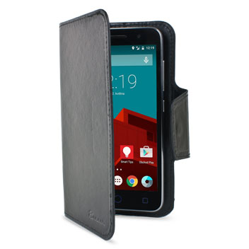Encase Rotating Leather-Style Vodafone Smart Prime 6 Wallet Case - Black