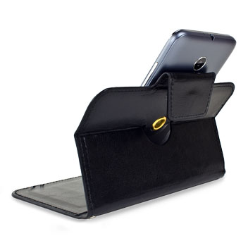 Encase Rotating Leather-Style Vodafone Smart Prime 6 Wallet Case - Black