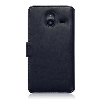 Olixar Genuine Leather Microsoft Lumia 640 XL Wallet Case - Black
