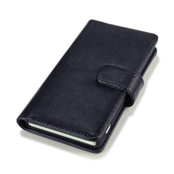 Olixar Premium Real Leather Sony Xperia Z3 Wallet Case - Black