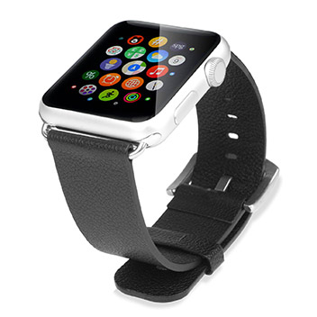 Baseus Apple Watch Premium Leather Strap - 42mm - Black