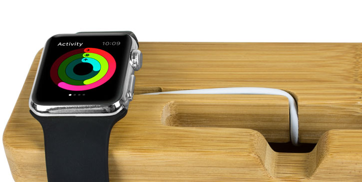 Support Apple Watch 3 / 2 / 1 et iPhone Olixar Bambou