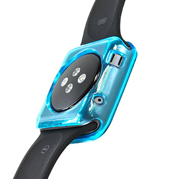 Olixar Soft Protective Apple Watch Case - 38mm - Blue / Clear