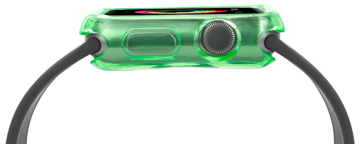 Olixar Soft Protective Apple Watch Case - 38mm - Green / Clear