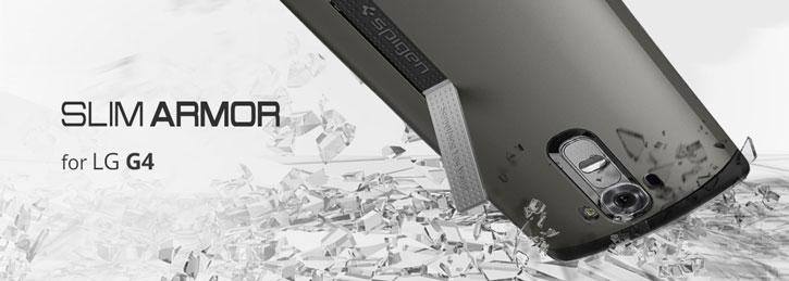 Spigen Slim Armor LG G4 Case - Gunmetal