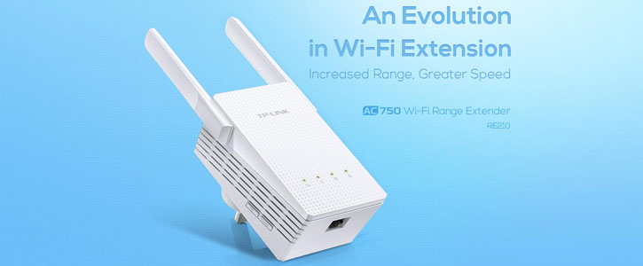 TP-LINK RE210 Dual Band 750Mbps Wi-Fi Range Extender - White