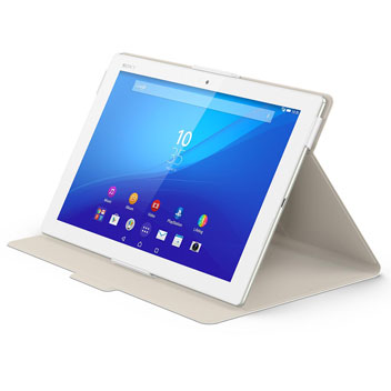 Official Sony Xperia Z4 Tablet Style Cover Stand Case - White