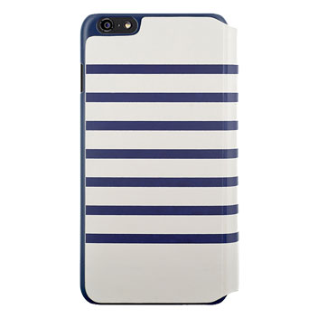 Jean-Paul Gaultier Striped Sailor iPhone 6 Folio Case - White / Navy