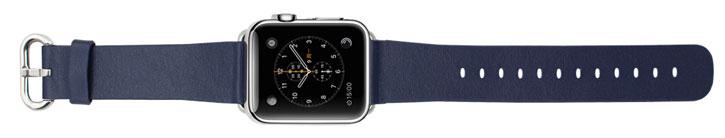 Genuine Leather Apple Watch Strap - 38mm - Blue