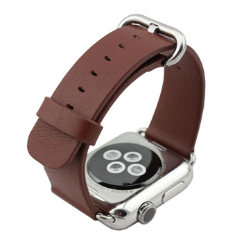 Genuine Leather Apple Watch Strap - 42mm - Brown