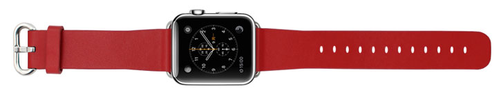 Genuine Leather Apple Watch Strap - 42mm - Red