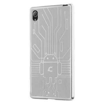 Cruzerlite Bugdroid Circuit Sony Xperia Z3+ Gel Case - Clear