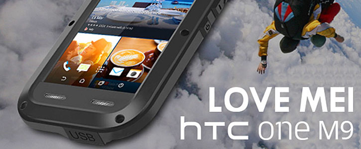 Love Mei Powerful HTC One M9 Protective Case - Black