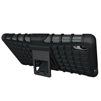 ArmourDillo Sony Xperia M4 Aqua Protective Case - Black