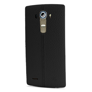 LG G4 Black Leather Replacement Back Cover