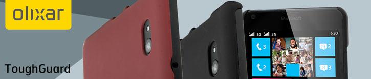 ToughGuard Microsoft Lumia 640 Rubberised Case - Solid Red