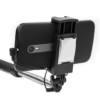 Perche selfie de poche Olixar avec miroir - Noire