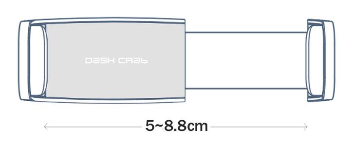 Support Voiture Grille de Ventilation Cuir DashCrab MONO - Noir