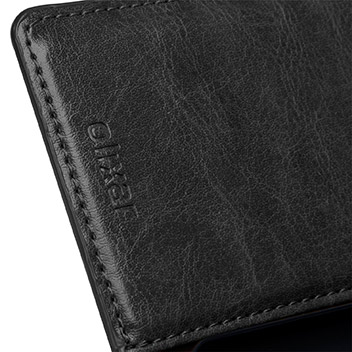 Olixar Leather-Style Sony Xperia Z4 Compact Wallet Stand Case - Black