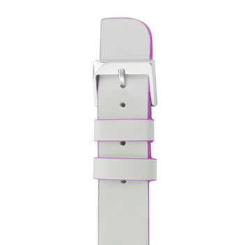 Case-Mate Genuine Leather Apple Watch Strap - 38mm - Ivory / Pink