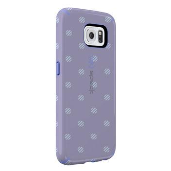 Speck CandyShell Inked Samsung Galaxy S6 Case - Polka Dot Purple