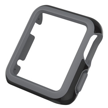 Speck CandyShell Fit Apple Watch Case (42mm) - Black / Slate Grey