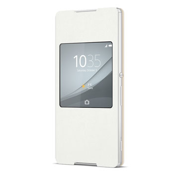 Official Sony Xperia Z3+ Style Cover with Smart Window SR30 - White