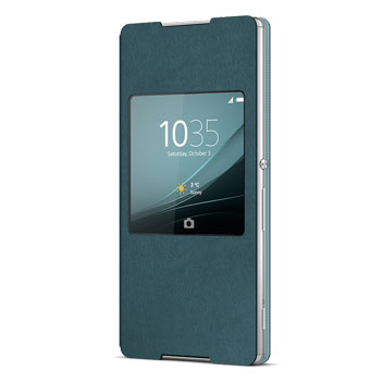 Official Sony Xperia Z3+ Style Cover with Smart Window SR30 - Green