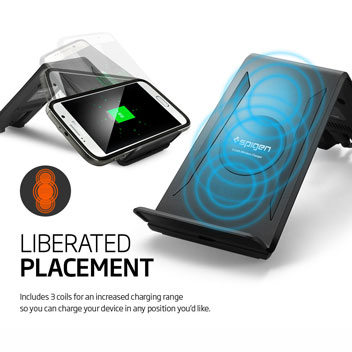Spigen F300W Qi Wireless Charging Stand - Black