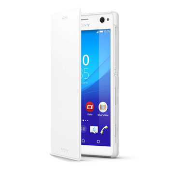 Official Sony Xperia C4 Style Cover Stand Case - White