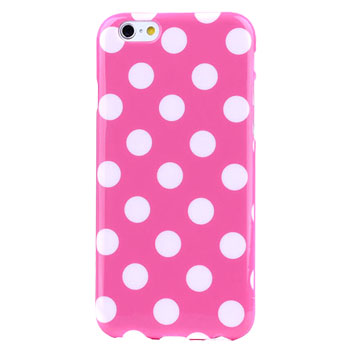 Polka Dot FlexiShield iPhone 6S Plus / 6 Plus Gel Case - Pink
