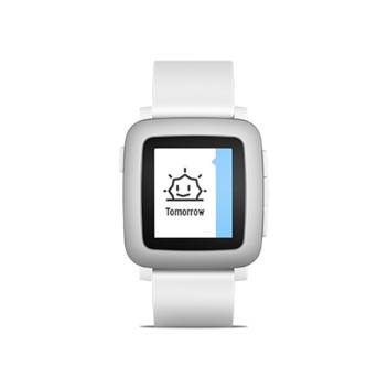 Pebble Time Smartwatch for iOS and Android Devices - Black