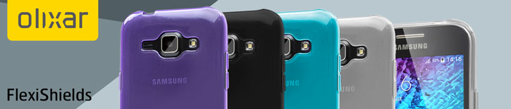FlexiShield Samsung Galaxy J1 Gel Case - Purple